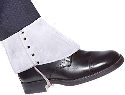 Mens 1920s White Gangster Spats