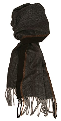 Love Lakeside Men's Cashmere Feel Winter Plaid Scarf for Winter, Overcoat Herringbone Multi Stripe - Herringbone Stripe Scarf