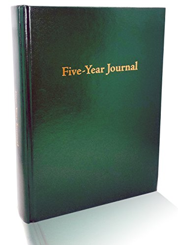 Hard Cover 5 Year Journal | The Easiest to Use Five Year Journal | Quick and Easy Five Year Daily Journal System | 6x8.25 Inch Size (Hunter Green) -