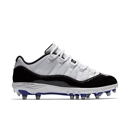 0463b6ba095 Galleon - NIKE Mens Air Jordan XI 11 Retro Low TD Football Cleats  White Black Concord Grape AO1560-123 Size 10