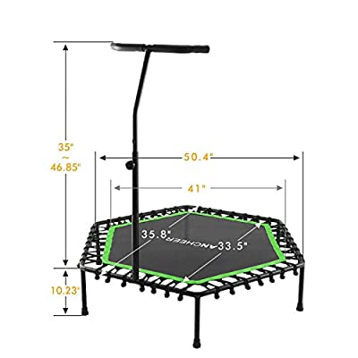ANCHEER Mini Trampoline, Rebounder for Adults Kids Fitness, 50