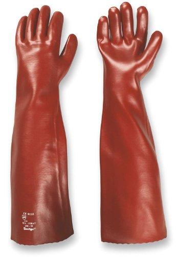 PVC-Handschuhe MEMPHIS 60 cm rot Gr. 10