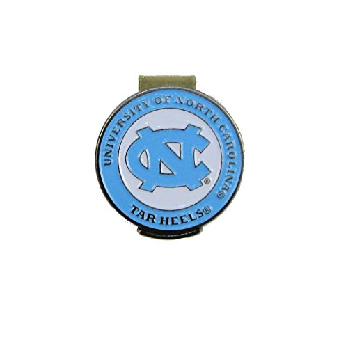 Waggle Pro Shop North Carolina Tar Heels Golf Hat Clip with Double-Sided UNC Ball Marker