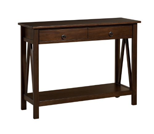 Linon Home Dcor 86152ATOB-01-KD-U Console Table, 42.01