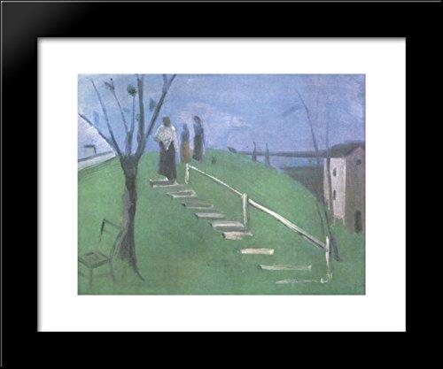 (On the Hillside 20x24 Framed Art Print by Istvan)