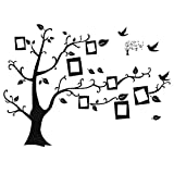 Hindom Family Picture Tree Wall Decal DIY Photo Frame Decor Sticker, Home Murals