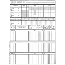 Census History Sheets