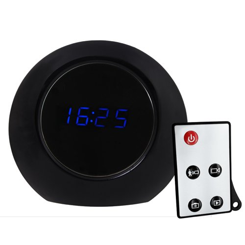 2nd Generation Multifunctional R/C Alarm Clock & Motion Detection Spy DVR w/ High Resolution & Long Recording Time - Black (Free 8GB card) by Spy Gadget