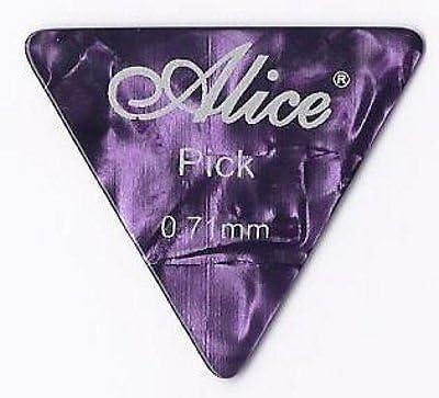 Pack Of 12 X Grande Triángulo Celuloide Púas Guitarra |Alice AP600L | para Guitarra Acústica Eléctrica bajo Guitarras | 0.71mm