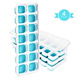 【Easy Release】Ice Cube Tray,Patec Easy to Remove ice cube trays,14 Cube Trays,Keep Drink