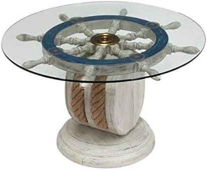Editors' Choice: Unique Wood Ship Wheel Nautical Theme Decorative Coffee Table 36''
