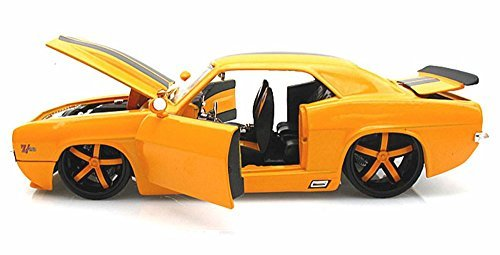 1969 Chevy Camaro, Yellow - Jada Toys Bigtime Muscle 90346 - 1/24 scale Diecast Model Toy Car (1969 Camaro Diecast compare prices)