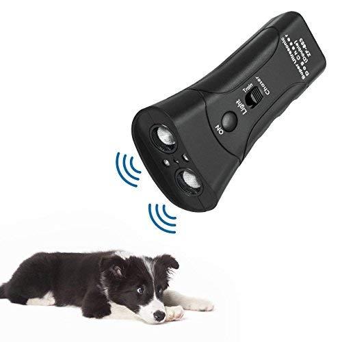 instecho Handheld Dog Repellent, Ultrasonic Infrared Dog Deterrent, Bark Stopper + Good Behavior Dog Training