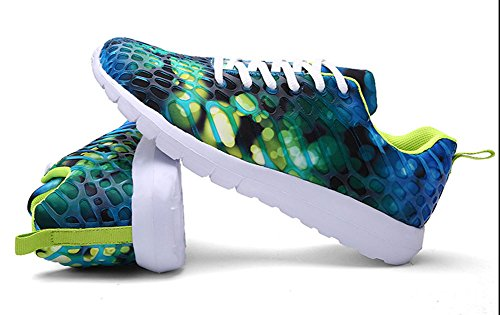 Avacostume Unisex Couples Sport Athletic Outdoor Camuflaje Zapatos Transpirables Verde