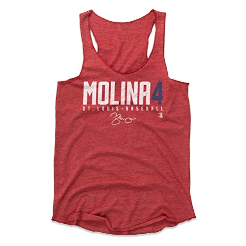 500 LEVEL Yadier Molina Women's Tank Top Small Red - St. Louis Baseball Women's Apparel - Yadier Molina Molina4 W WHT (Gear Cardinals Louis)