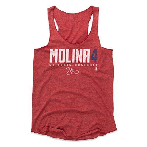 500 LEVEL Yadier Molina Women's Tank Top X-Large Red - St. Louis Baseball Women's Apparel - Yadier Molina Molina4 W WHT