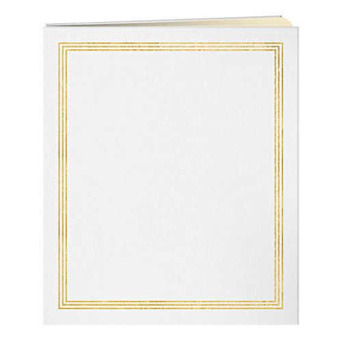 Pioneer Jumbo 11.75x14 Beige Page Scrapbook 100 Pages (50 Sheets), White by Pioneer