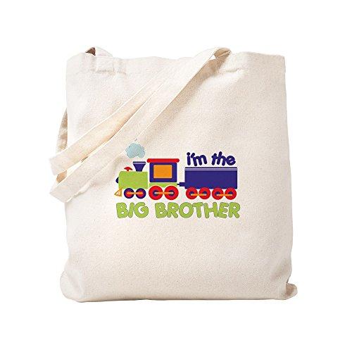 CafePress - Train Big Brother T-Shirts - Natural Canvas Tote Bag, Cloth Shopping (Natural Big Brother T-shirt)