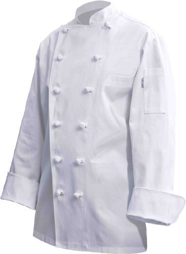 Chef Works CKCC-WHT Montreux Executive Chef Coat, White, Size 58 by Chef Works