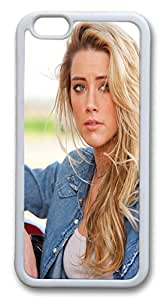 iphone 6 plus 5.5inch Case and Cover Drive Angry Amber Heard TPU Silicone Rubber Case Cover for iphone 6 plus 5.5inch White