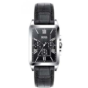 Hugo Boss 1512578 - Reloj analógico de cuarzo para hombre con correa de piel, color negro