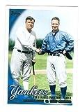 Babe Ruth and Lou Gehrig Baseball Card (New York Yankees) 2010 Topps #637