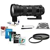 Sigma 150-600mm F5-6.3 DG OS HSM Sport Lens for Sigma DSLR Camera - Bundle with LensAlign MkII Focus Calibration System, 105mm UV Filter, Cleaning Kit, Lens Cap Leash, 105mm CPL Filter, Software Pack