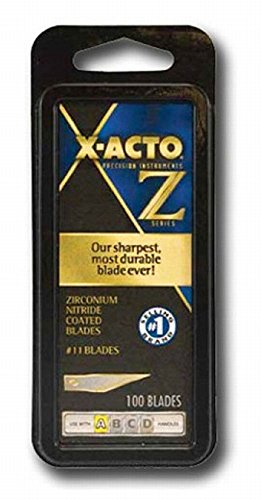 X-ACTO XZ611 4 Pack #11 100 Pc. Classic Fine Point Blade by X-Acto