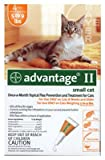 Premium Pet Products 04461669 Advantage II For Small Cats, Orange, 4-Pk. - Quantity 12
