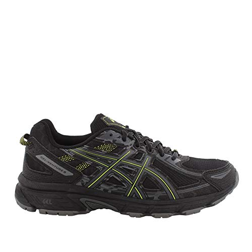 ASICS Men's, Gel Venture 6 Trail Sneakers Black Lime 11 D