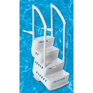 BiltMor Above Ground Step and Ladder System, Step Only (Ground Steps Above Swimming Pool)