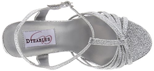 Dyeables, Inc Femmes Kaylee Plateforme Robe Sandale Paillettes Dargent