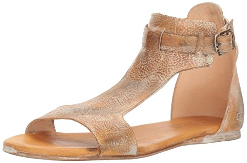 Bed|Stu Women's Sable Flat Sandal, Tan Rustic White BFS, 7 M US