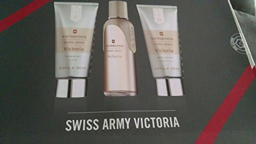 Victorinox Victoria 3 Pc SET 3.4 Eau De Toilette, 3.4 Body Lotion, 3.4 Shower Gel