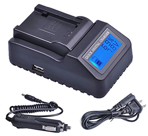 (LCD Quick Battery Charger for Panasonic PV-GS31, PV-GS33, PV-GS34, PV-GS35, PV-GS36 Camcorder)