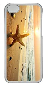 Custom design PC Transparent Case Cover For iPhone 5C DIY Durable Shell Skin For iPhone 5C with Starfish