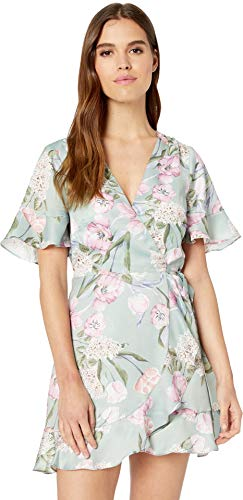 (Show Me Your Mumu Women's Evelyn Mini Wrap Dress, Primavera Floral, Small)
