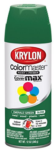 Krylon K05201602 Emerald Green Interior and Exterior Decorator Paint - 12 oz. Aerosol