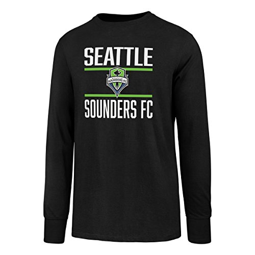 OTS MLS Seattle Sounders FC Men's Rival Long Sleeve Tee, X-Large, Jet Black