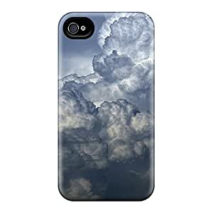 Louisopson Fashion Protective Big Dark Clouds Case Cover For Iphone 4/4s