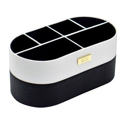 SOHO Small Countertop Organizer Black & White White by Soho