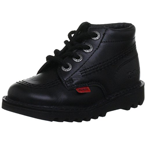 Kickers Kick Hi Toddlers I Core Black Leather Boots-UK 11 Kids (Best Hiking Boots Uk 2019)