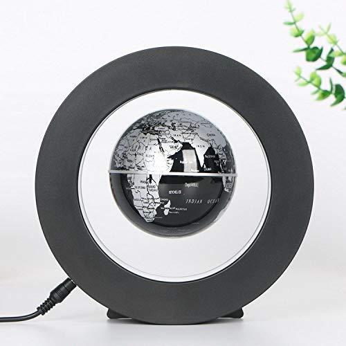 Desk Decoration - Magnetic Floating Globe with LED Lights, Magnetic Levitation Floating Globe World Map for Desk Decoration(Black) by Bonebit (Image #9)