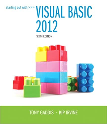 Starting Out With Visual Basic 2012 plus MyProgrammingLab with Pearson eText -- Access Card Package (6th Edition)
