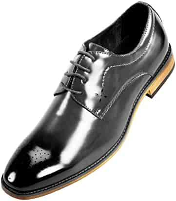 aa2c54de5dc7 Amali Smooth Burnished Derby with Perforated Toe Men's Dress Shoe Style  Petfer