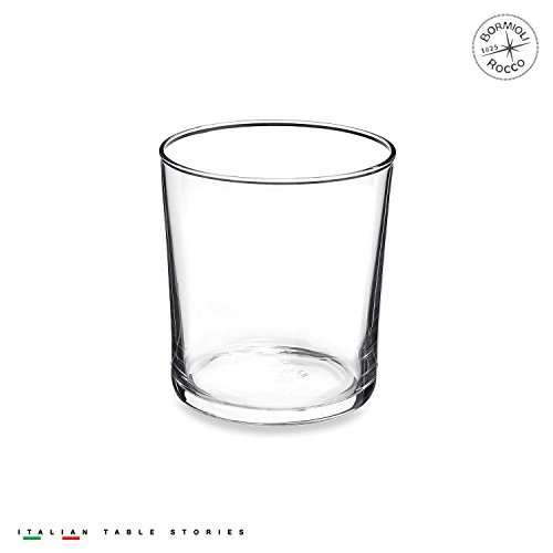Drinkware Collection Crystal (Bormioli Rocco Bodega Collection Glassware – Set Of 12 Medium 12 Ounce Drinking Glasses For Water, Beverages & Cocktails – 12oz Clear Tempered Glass Tumblers)
