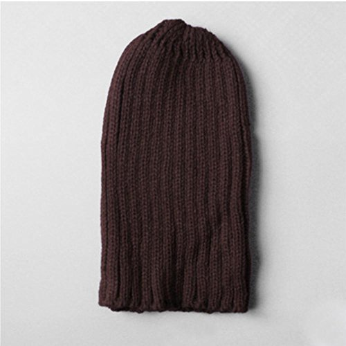 Slouchy Gorro de diaria aire grueso Mens invierno al moda forrado esquí Baggy suave caliente sombreros sombrero punto libre brown ZxO8gt