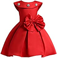 LZH Baby Girls Dress Flower Vintage Embroidery Princess Elegant Dress for Wedding Party 1-8Years