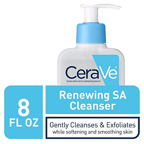 CeraVe Salicylic Acid Cleanser   8 Ounce   Renewing Exfoliating Face Wash with Vitamin D for Normal Skin   Fragrance Free
