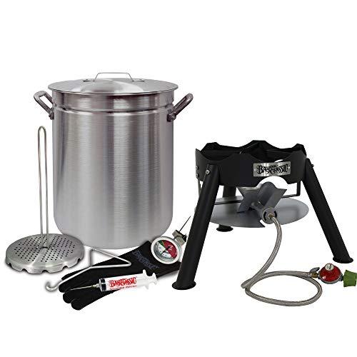 Enterprises Turkey Fryer Complete Kit 42 Quart Aluminum Stockpot Perfect for Turkeys Up to 25 Pounds or Diameter of 14